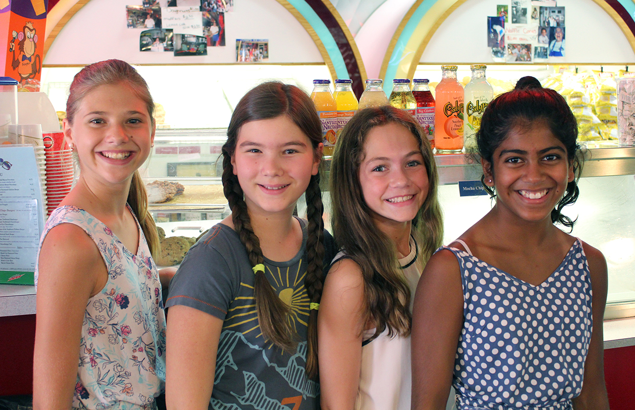 Village School students visit an ice cream shop